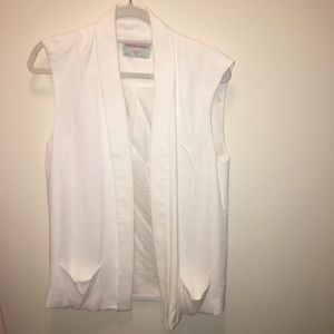 Tops - White Vest with Pockets